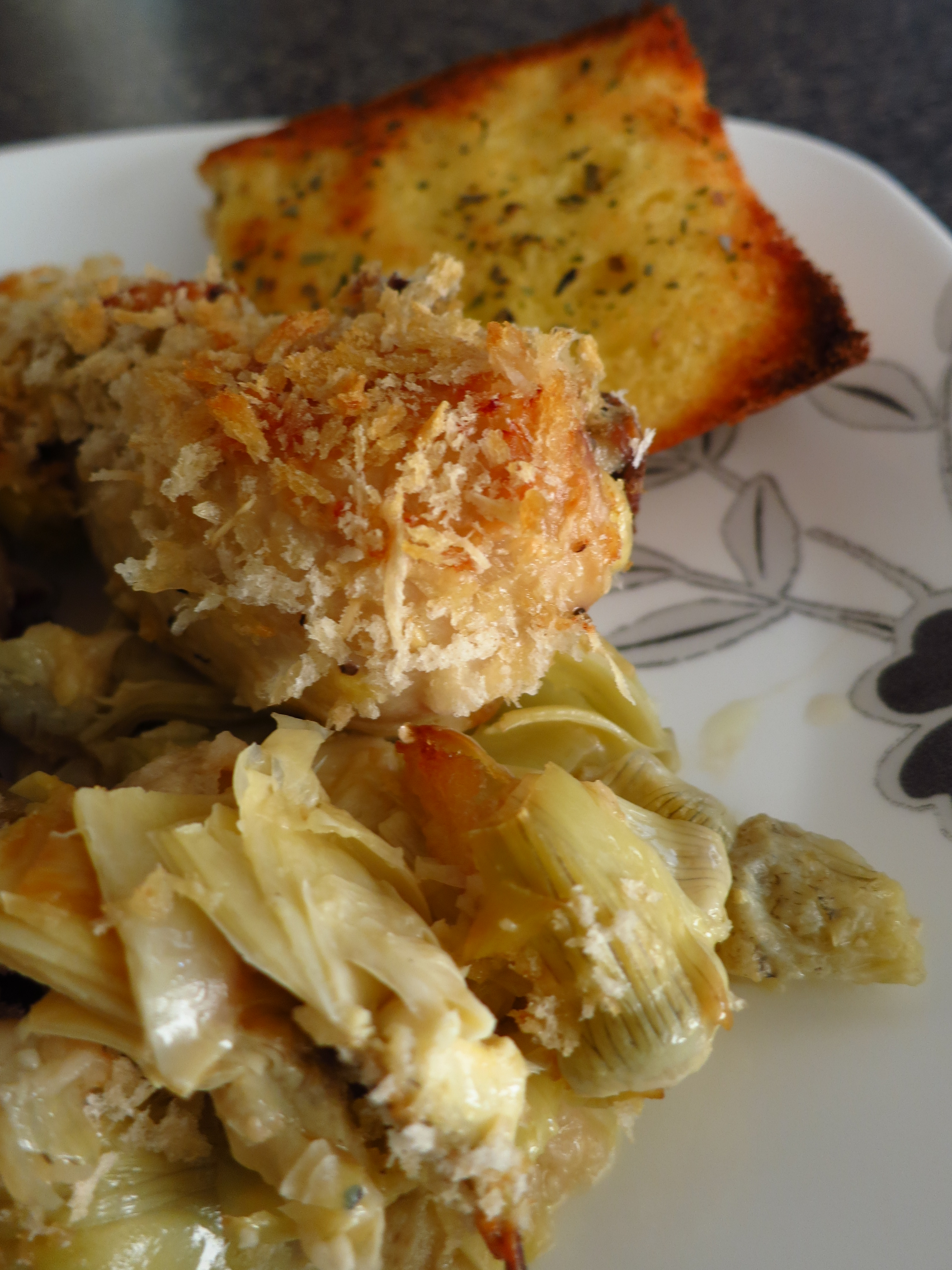 Baked Chicken and Artichokes in a White Wine Sauce | Vicka ...